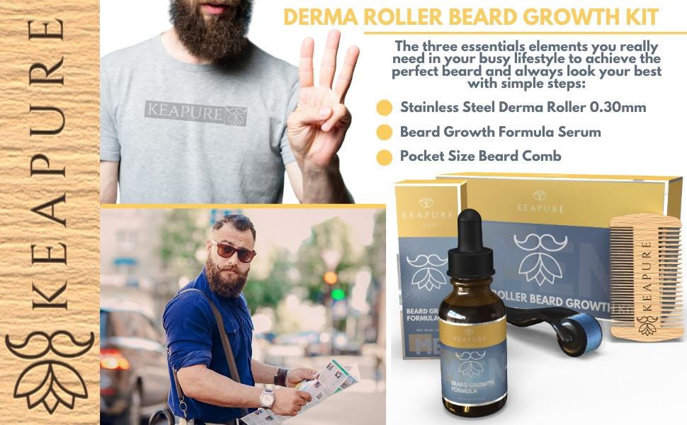 Derma Roller Beard Growth Kit