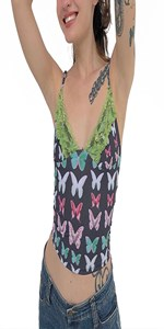 Green Butterfly Camis