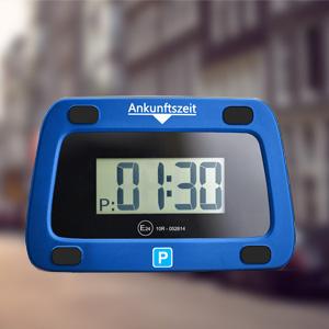 Achilles Parkwächter Digitale Parkscheibe Abnehmbar Entspricht Der Straßenverkehrsordung Elektronische Parkuhr Für Das Auto In Blau 111 X 72 X 25 Mm Auto