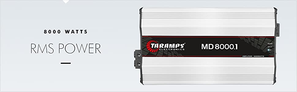 Free MLC 1.5 RCA Taramps MD800.1 1 Ohm 800 WTS Full Range 1 Channel