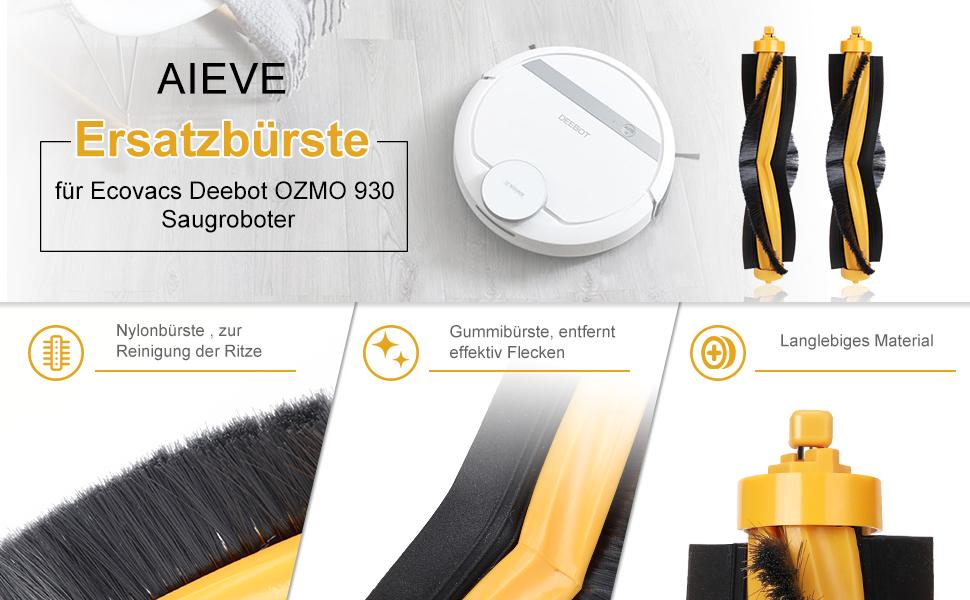 Für Ecovacs Deebot Ozmo 900 Filter Seite Roller Bürste Staubsauger Zubehör