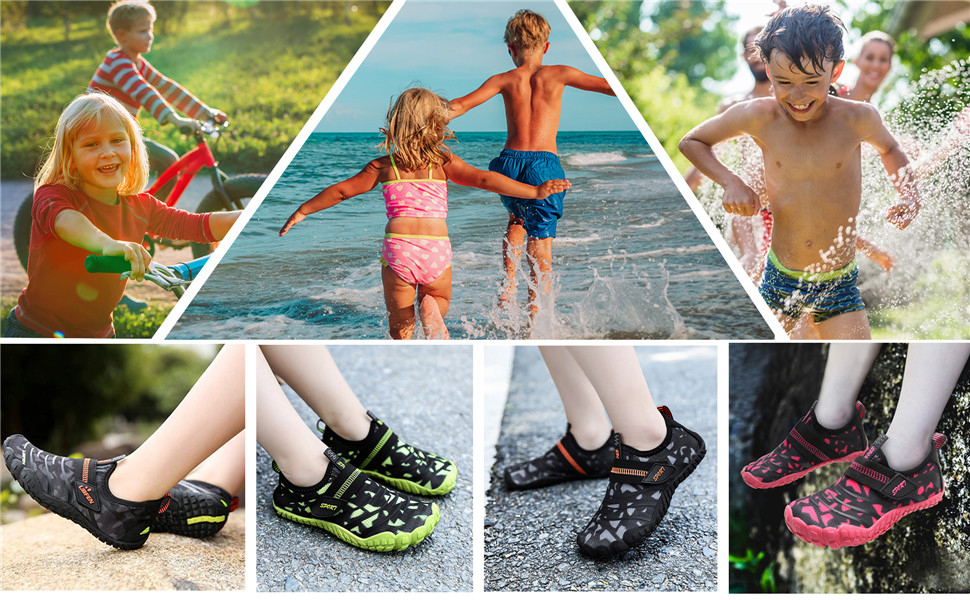 Yiyifash Kids Water Shoes Boys Girls Quick Dry Aqua Socks Barefoot Beach Swim  Shoes for Pool Surfing Summer Outdoor Water Sports Shoes Sports & Outdoors  Boating & Watersports
