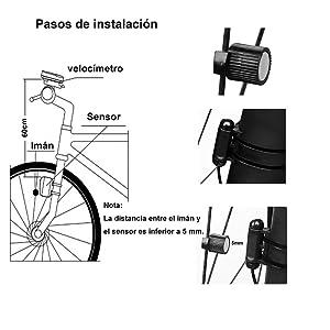 BACKTURE Cuentakilómetros para Bicicleta, Velocímetro inalámbrico ...