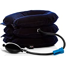 Cervical neck traction pain relief device neck stretcher spinal decompression inflatable pillow