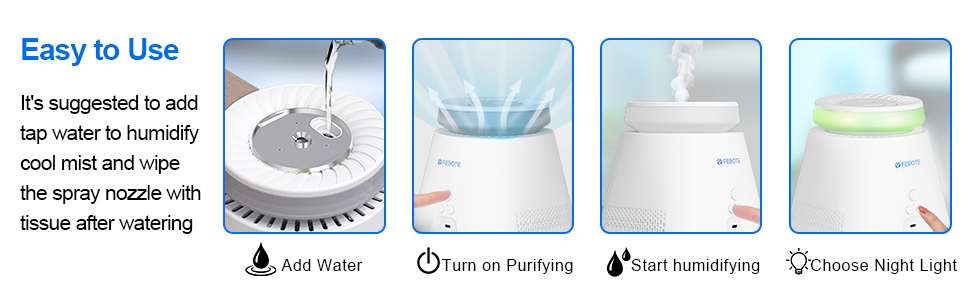 FEBOTE air purifier for home