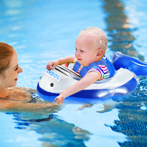 baby swimming ring with Parents