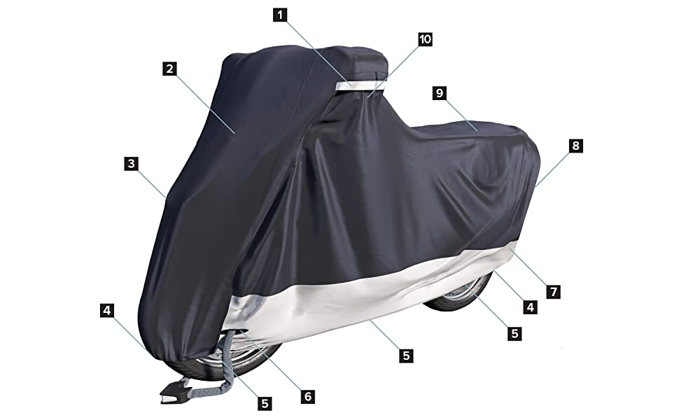 velmia motorcycle cover outdoor indoor waterproof for harleys scooter cover