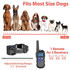 Waterproof Dog Collar with Remote