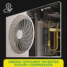 Energy Efficient Inverter Rotary Compressor