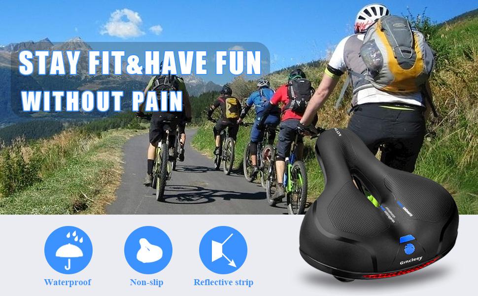 Bike Saddle Cushion Replacement Seat Road Bicycle Racing Riding Ventilation Hot