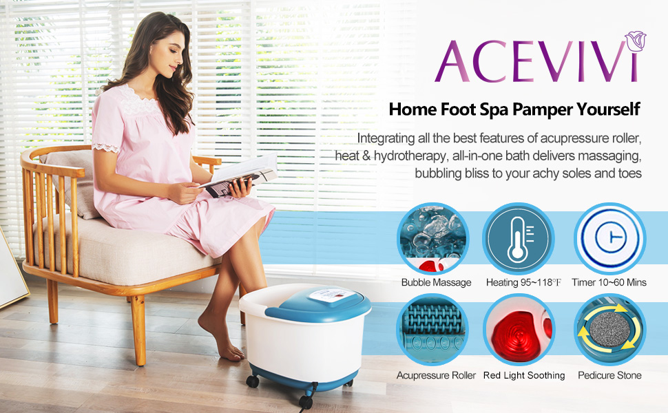 foot spa with heat and massage and bubbles 3