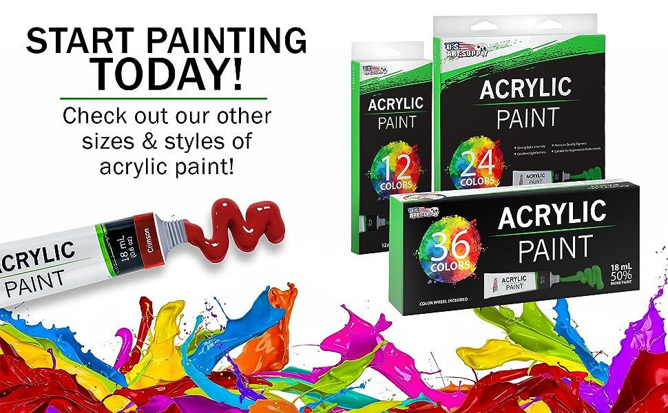 Professional Acrylic Paint Tubes 18ml