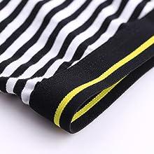 Elastic wide waistband