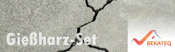 Quarzsand Epoxidharz Farblos Giessharz BEKATEQ BK-450EP Gie/ßharz Estrichklammern Estrich ausbessern reparieren Risse im Estrich verharzen 2K Vergussmasse 3kg Harz + 2kg Sand + 60 Klammern