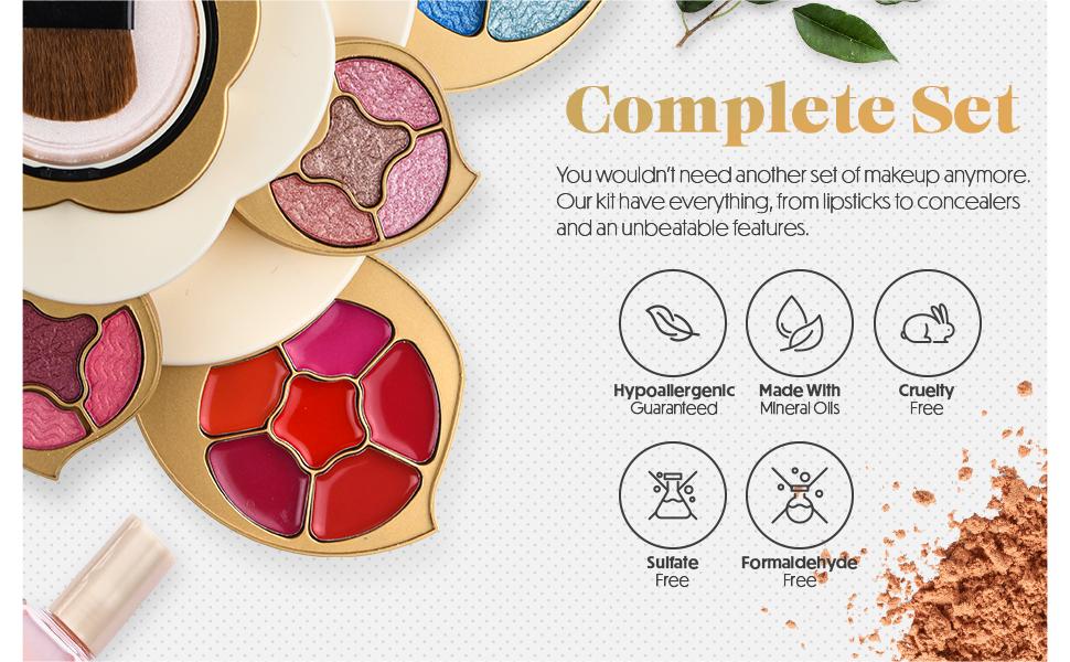 complete makeup set for women