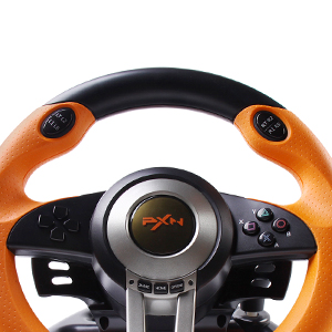 180 Degree Dual-Motor Vibration Driving Gaming Racing Wheel with Responsive Pedals for PC/PS3/PS4/XBOX ONE/Switch PXN-V3II (Orange) 08e03b3e f289 4523 a367 907a4e8a513b