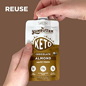Keto Chocolate Almond Butter Packets to go Keto Snacks, Low Carb Food, Keto Fat Bomb, Keto-Friendly