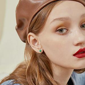 silver stud earrings for women