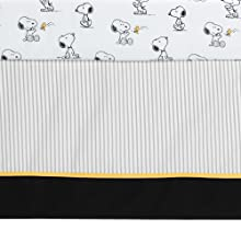 Classic Snoopy Crib Skirt