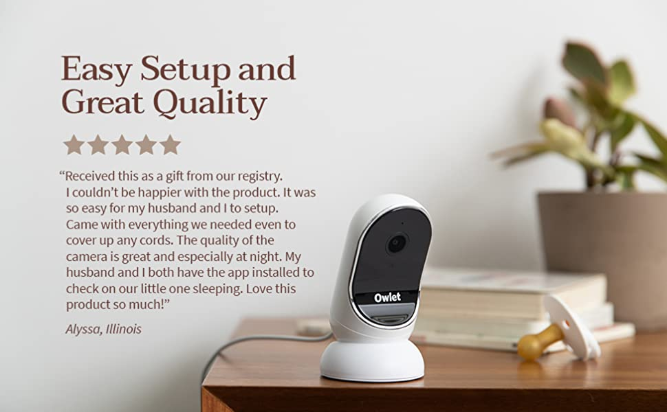 Owlet camera is easy to setup