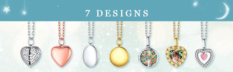 silver locket necklace