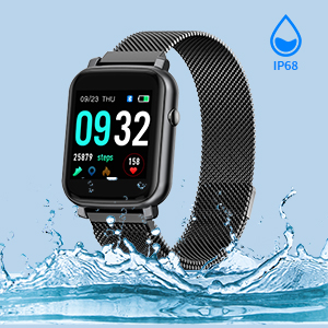 IP68 waterproof smart watch compatible with samsung cellphone