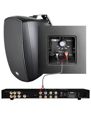 OSD Audio 100W 2-Way Indoor//Outdoor Speaker AP525 Weather Resistant Patio Pair