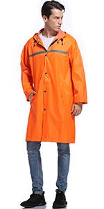 men rain jacket long