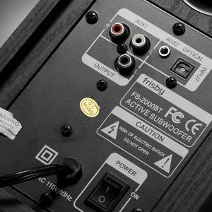 Frisby Audio FS-2000BT Powered Bookshelf Speaker System with Digital Inputs