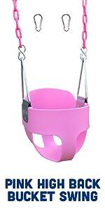 Pink High Back Bucket Swing