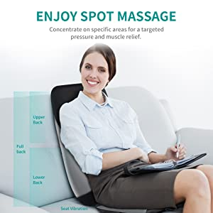 Neck back massager cushion