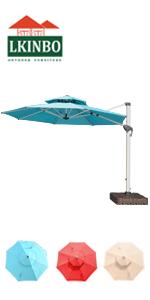cantilever patio umbrella with solar led light