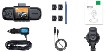 packing of dash cam