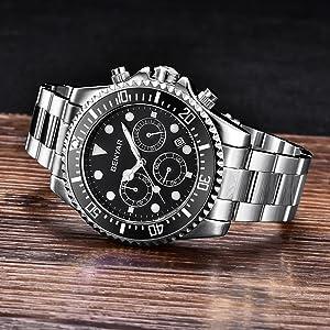 BENYAR Stainless Steel Strap Watch
