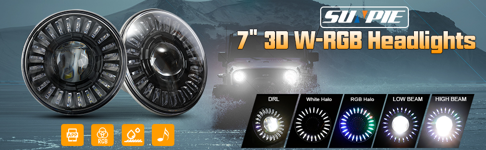 jeep wrangler w rgb halo headlights