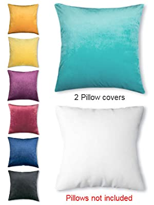 throw pillow covers decorative throw pillow covers velvet pillow cases for bedroom