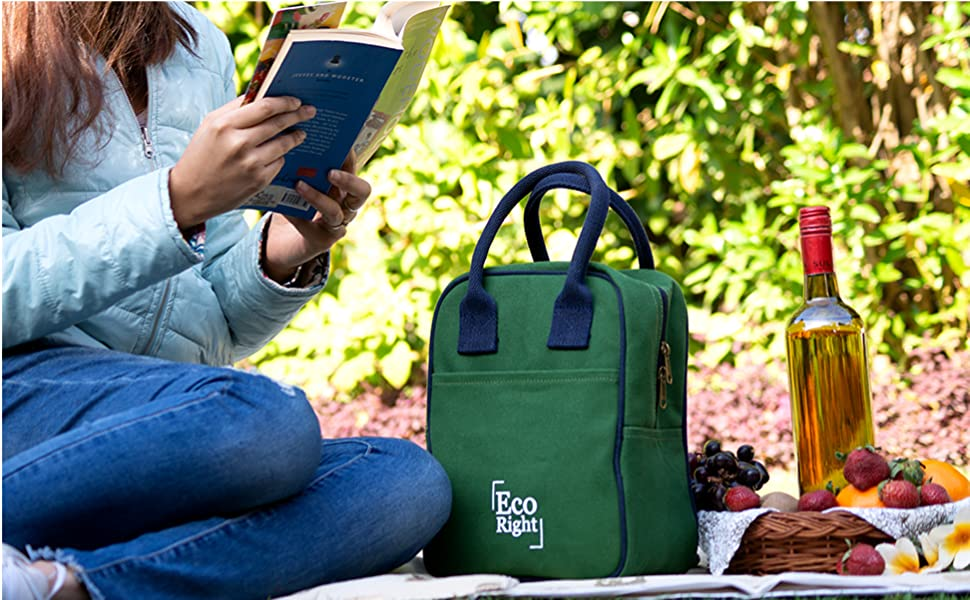 EcoRight canvas insulated lunch bags