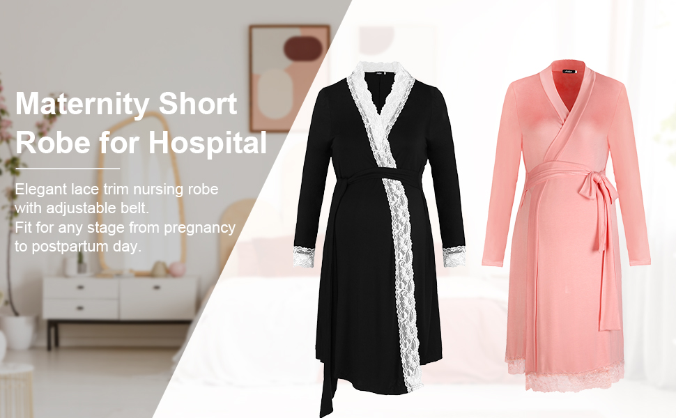 maternity robe pregnancy sleepwear