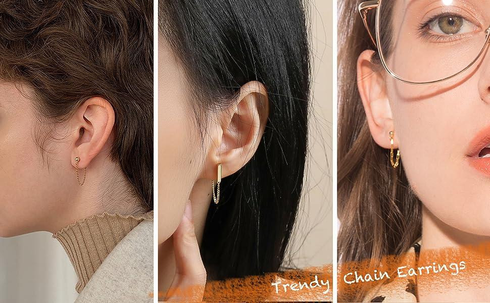 chain earrings for women