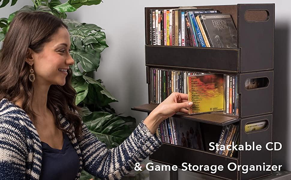 cd storage organizer media tray disc video game dvd