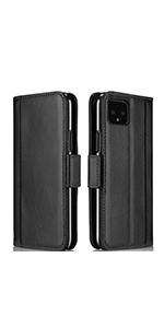 Pixel 4 XL Leather Wallet Case