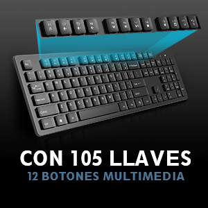 Teclado Inalambrico PC