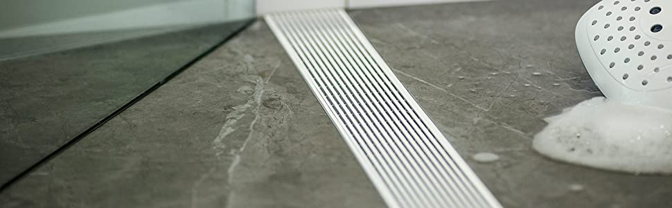 wedge wire linear shower drain