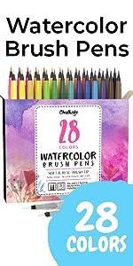 Watercolor Brush Pens - Pack of 26