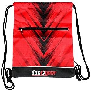 Deco Gear Drawstring Bag, Cinching Tote, Backpack, Sling, or Handbag for Daily Use