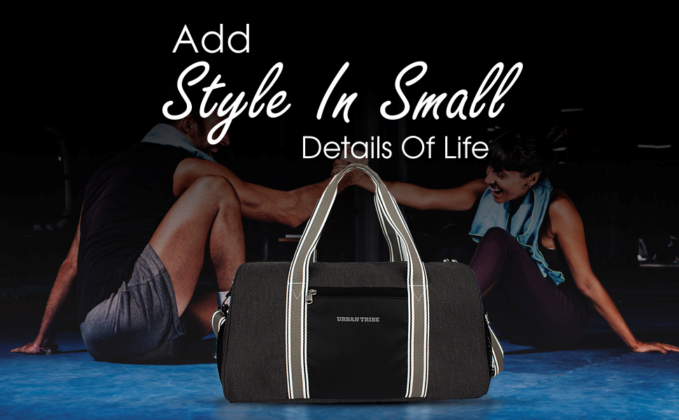 Urban Tribe Fury Gym Bag with Separate Shoe Compartment (Grey)