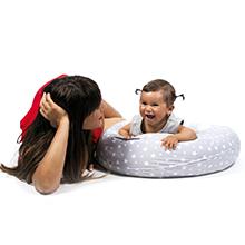 Almohada Embarazada Dormir y Cojin Lactancia Bebe XXL,Funda Cojin 100% Algodon, Desenfundable y Lavable, Relleno de Fibra Hueca de Poliéster ...