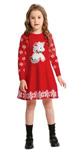 girl christmas unicorn dress
