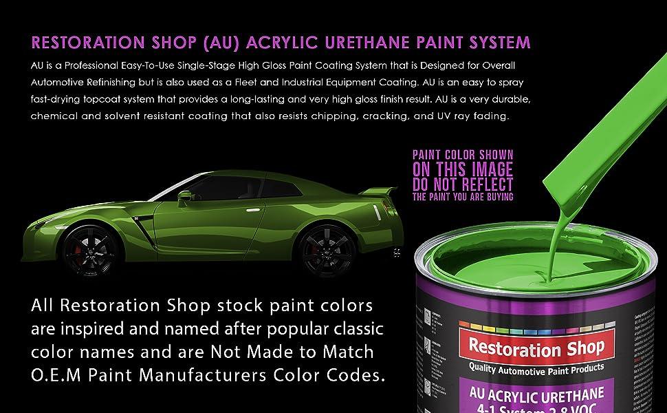 Quart Paint Color Only - Professional Single Stage High Gloss Automotive, Car, Truck Coating 2.8 VOC