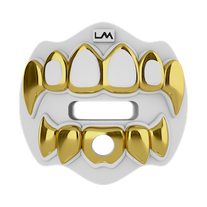 Loudmouth Football Mouth Guard | 3D Chrome Grillz Adult & Youth Mouth Guard | Mouth Piece for Sports | Maximum Air Flow Mouth Guards | Lip and Teeth ...